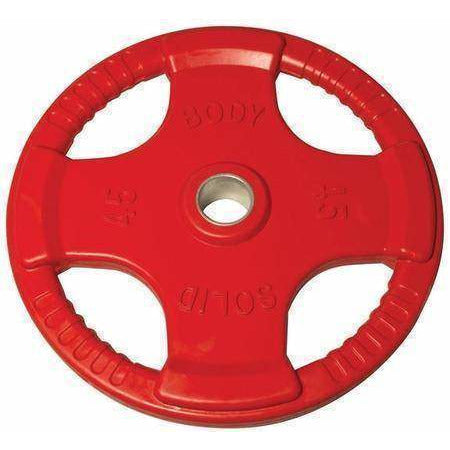 Image of 455 lb. Colored Rubber Grip Olympic Plate Set - FitnessGearUSA.Com