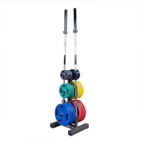 Image of Olympic Plate Tree & Bar Holder - Fitness Gear