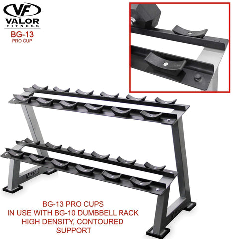 Valor Fitness BG-13 Dumbbell Cups for BG-10 Rack - Fitness Gear