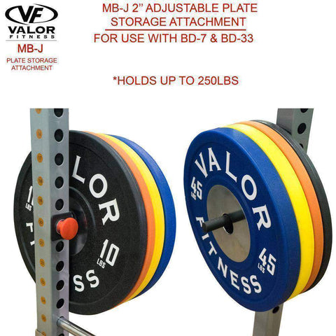 Image of Valor Fitness MB-J2.0 Plate Storage Attachment for BD-7 & BD-33 - FitnessGearUSA.Com