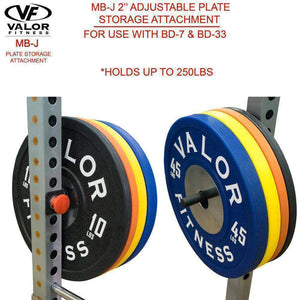 Valor Fitness MB-J2.0 Plate Storage Attachment for BD-7 & BD-33 - FitnessGearUSA.Com