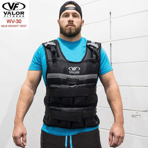 Valor Fitness WV-30 30lb Adjustable Weight Vest - Fitness Gear