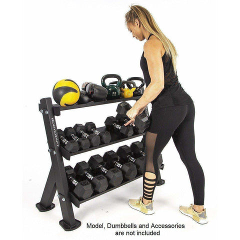 BodyCraft F530 3-Tier Dumbbell / Accessory Rack - Fitness Gear