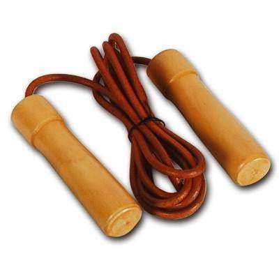 Valor Fitness Leather / Wood Jump Rope EF-14 - Fitness Gear
