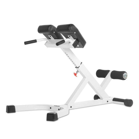 Image of XMark 45 Degree Ab Back Hyperextension Roman Chair XM-4428-WHITE - Fitness Gear