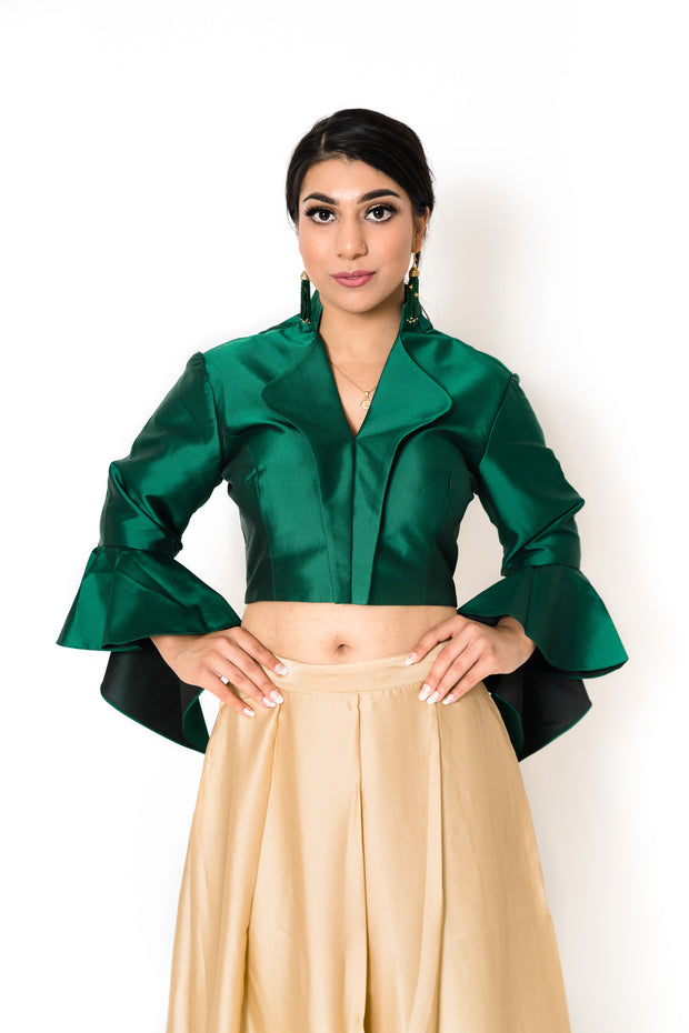 Green Helena Blouse