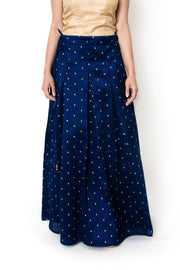Navy Blue Dot Skirt