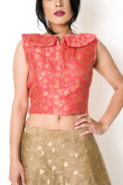 Red Bertha Blouse