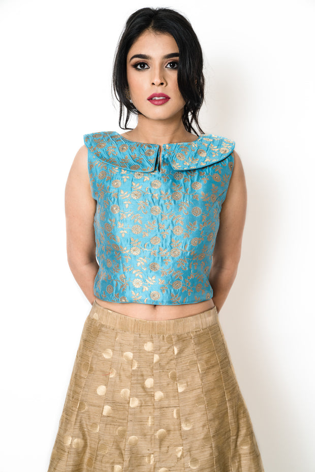 Light Blue Bertha Blouse