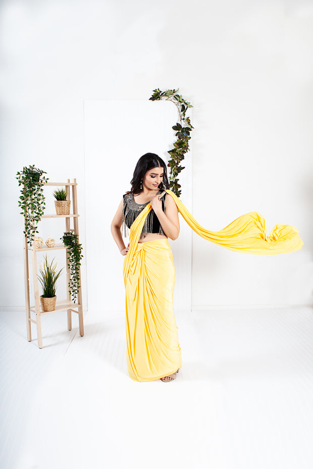 Oread Yellow Ready to Wear Saree