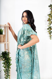 Wisteria Light Blue Ready to Wear Saree