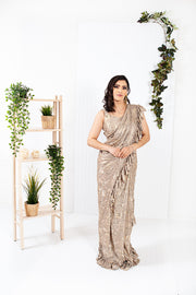 Wisteria Gold Ready to Wear Saree