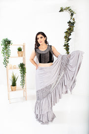 Oread 2.0 Silver Ready to Wear Saree