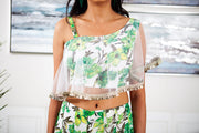 Allium Prima Green Skirt and Top