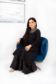 Petunia Black Sharara Suit