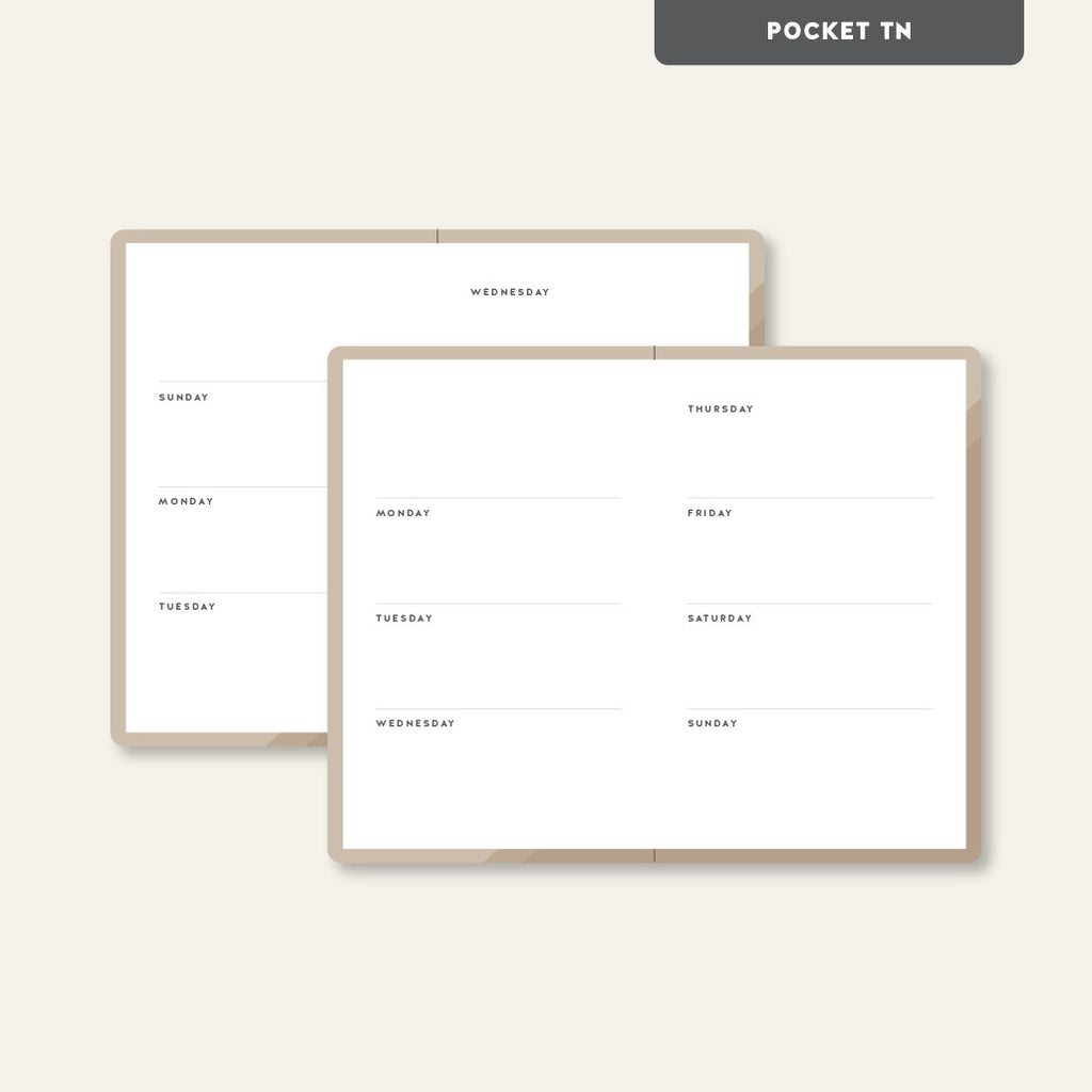 UNDATED WEEKLY PLANNER // POCKET SIZED NOTEBOOK