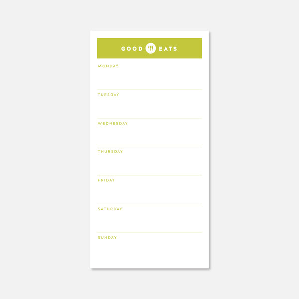 MEAL PLANNER NOTEPAPER