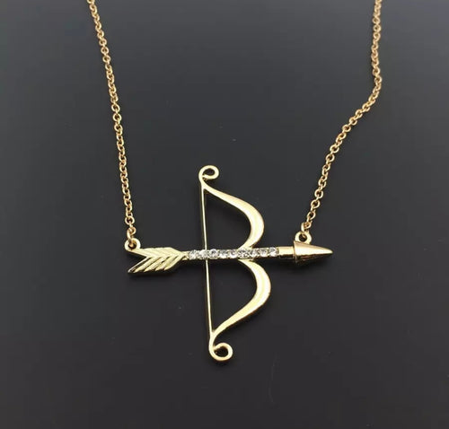 Bow & Arrow Gold Necklace