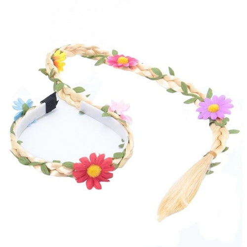 Flower Braided Headband- Two colors