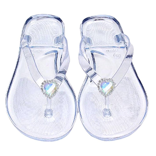 Clear Heart Jelly Sandals