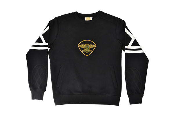 DBS. Emblem Fleece Crewneck Sweatshirt (Black)