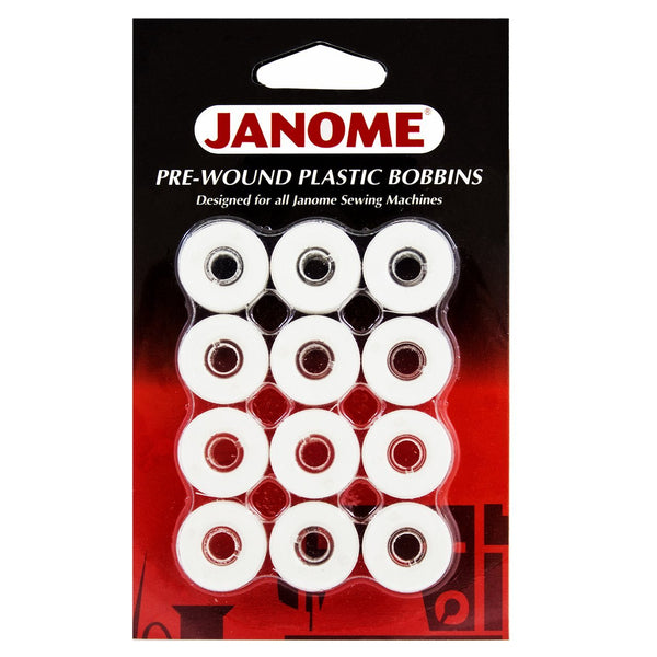 Janome Pre-wound bobbins Embroidery Thread 12Pk