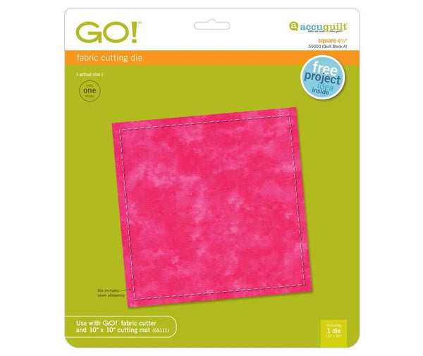 Accuquilt GO! Die Square-6 1/2″  (6″ Finished)