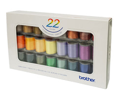 Brother Embroidery Thread x22 Colours - ETS22N