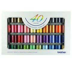 Brother Embroidery Thread x40 Colour