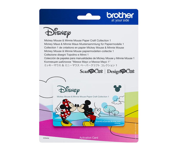 Brother ScanNCut Mickey & Minne Paper Craft Collection 1