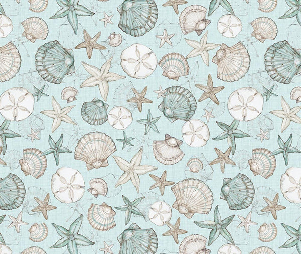 Wilmington Prints - Coastal Wishes 100% Cotton Fabric - 1/2 Metre