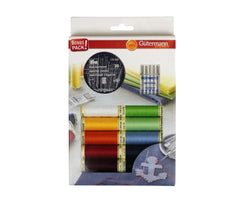 Gutermann Thread Pack Plus x 10 Reels & 35 Needles