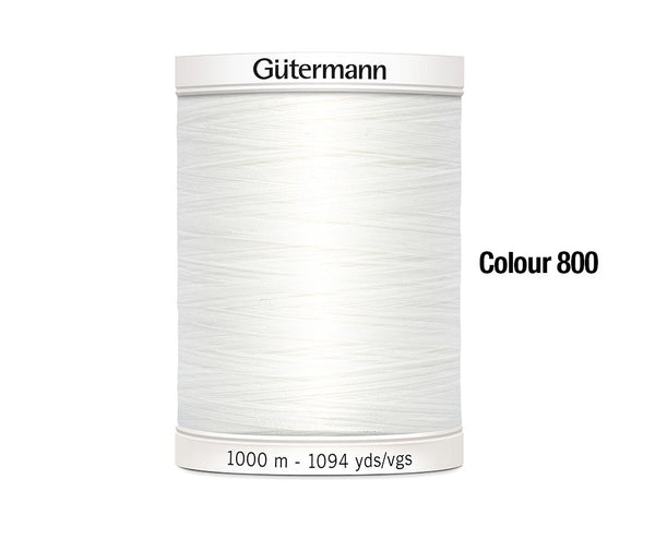 Sew-All Thread 1000M by Gutermann White (800)