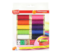 Gutermann Thread Pack Plus Bonus Tape Measure