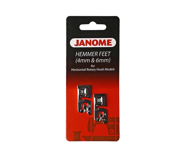 Janome Hemming Foot Set 6mm & 4mm