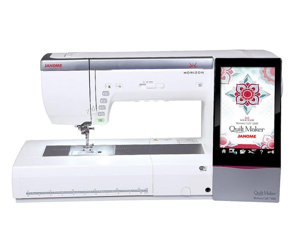 Janome MC15000 Horizon Quiltmaker Embroidery Machine + $180 Worth of Extra's