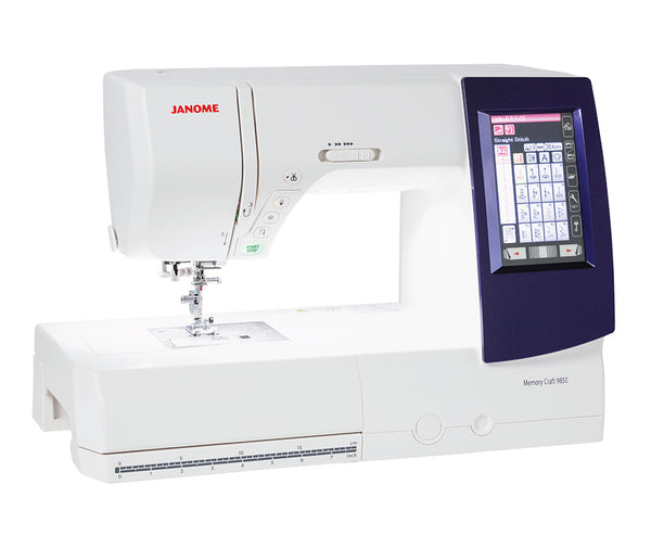 Janome Memory Craft 9850 Sewing, Quilting & Embroidery Machine + $200 Worth Of Free Thread