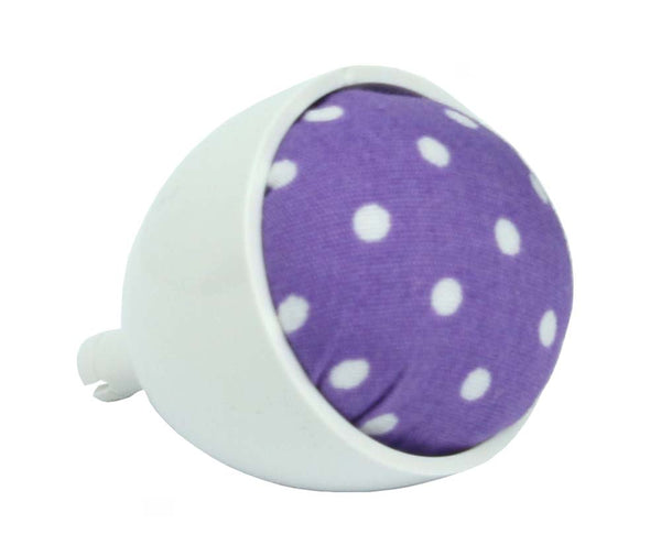 Janome Machine Pin Cushion - Purple with White Dots