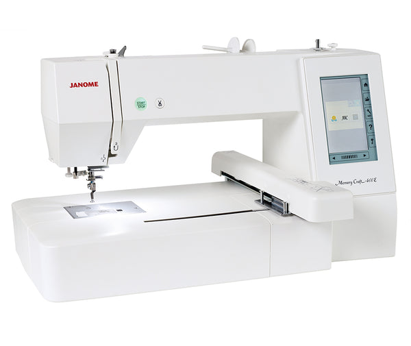 Janome MC400E Embroidery Machine + $180 Worth of Extra's