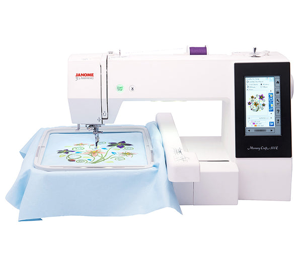 Janome MC500E Embriodery Machine + $200 Worth of Free Thread