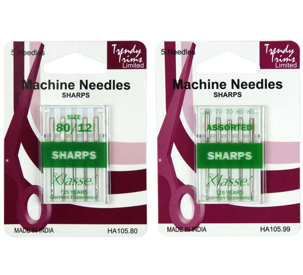 Sewing Machine Domestic Needles - Sharps You Choose