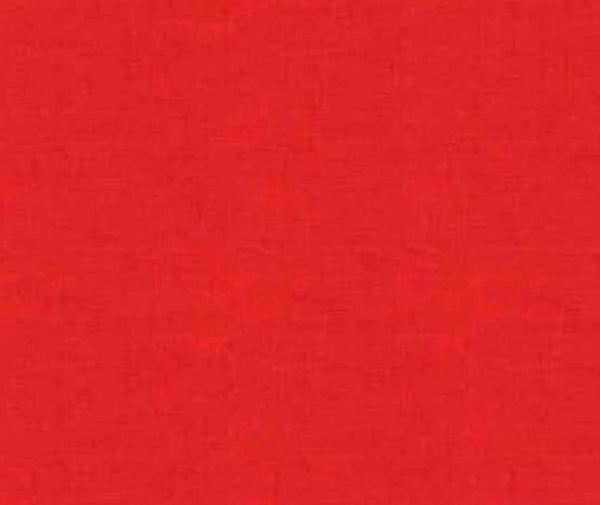 Linen Texture - Red 100% Cotton Fabric - 1/2 Metre