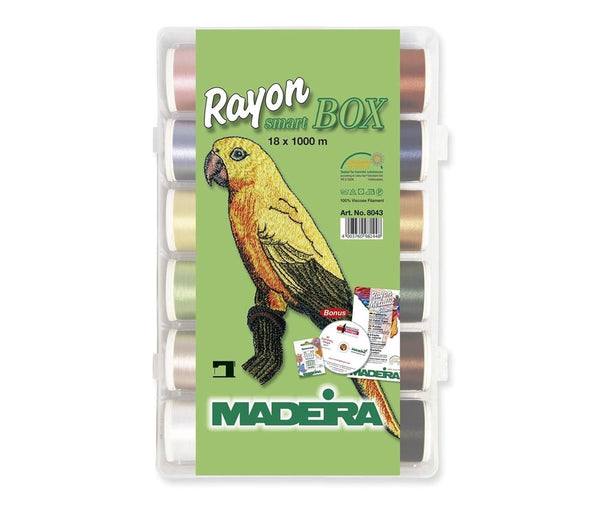 Madeira Classic Rayon 18x 1000m Embroidery Thread Box - Art.8043
