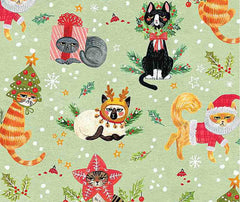 Dear Stella - Not Ameowsed 100% Cotton Fabric - 1/2 Metre