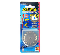 OLFA® 45mm Steel Pinking Rotary Cutter Blade