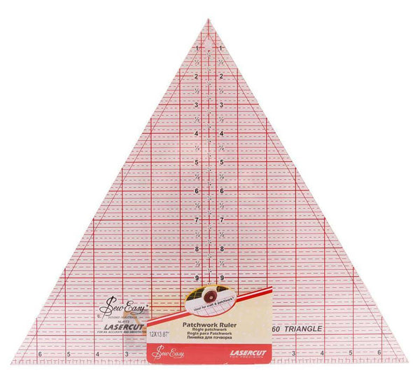 Quilting/Patchwork 60 Degrees Imperial Triangle Ruler