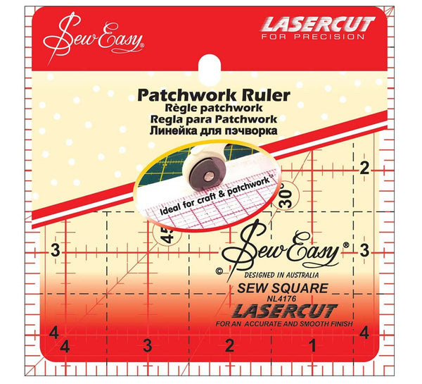 Sew Easy Patchwork Ruler 4.5