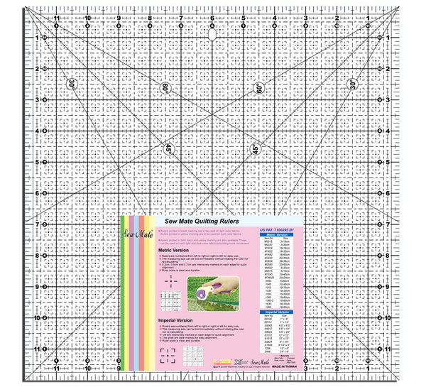 Quilting Ruler Sew Mate 12 Quot X 12 Quot Large Square Sew It