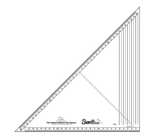 Set Square Metric Graders Pattern Making Ruler