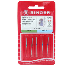 Singer Overlocker Domestic Needle 2054 5pk Multi Pack Woven (Old Model Machines)